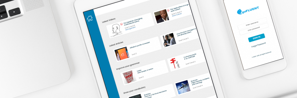 goFLUENT mobile app on mobile devices