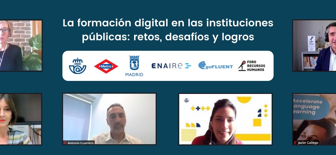 La formación digital en las Instituciones Públicas: retos, desafíos y logros